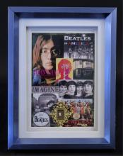 Framed John Lennon Hair Display Collectible