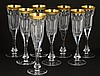 SET OF EIGHT MOSER CRYSTAL TULIP CHAMPAGNE