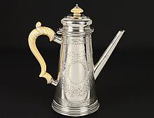 VICTORIAN STERLING SILVER COFFEE POT