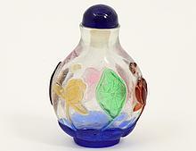PEKING OVERLAID GLASS SNUFF BOTTLE