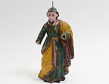 CARVED AND POLYCHROMED FIGURE OF CHRIST