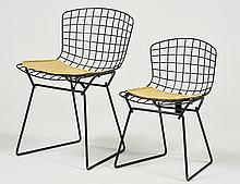 PAIR OF KNOLL WIRE CHILD'S SIDE CHAIRS