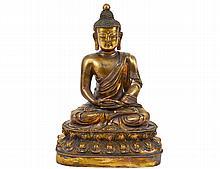 GOOD GILT BRONZE FIGURE OF BUDDHA