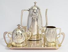 FOUR PIECE KAYSER SILVER PLATED COFFEE SERVICE
