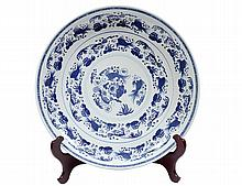 BLUE AND WHITE PORCELAIN CHARGER
