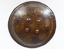 GOLD DECORATED METAL SHIELD