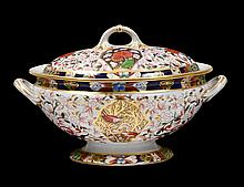 ROYAL CROWN DERBY PORCELAIN TUREEN AND COVER