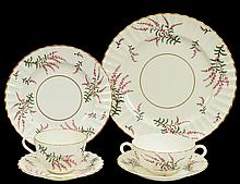 ONE HUNDRED, FOURTEEN PIECE ROYAL WORCESTER PORCELAIN DINNER SERVICE