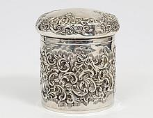 VICTORIAN STERLING SILVER JAR AND COVER