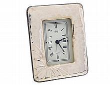 CONTINENTAL SILVER DESK CLOCK