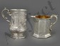 TWO VICTORIAN STERLING SILVER MUGS
