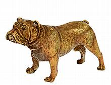 BERGMAN VIENNA COLD PAINTED BRONZE BULLDOG