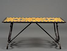 MIZNER STYLE TILED IRON LOW TABLE