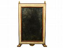 CONTINENTAL FAUX PAINTED AND PARCEL GILT MIRROR