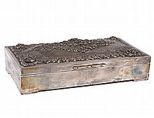 CONTINENTAL SILVER CIGARETTE BOX