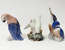 TWO ROYAL COPENHAGEN BIRD GROUPS