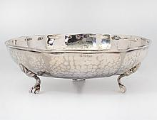 HAND HAMMERED SILVER PLATED BOWL
