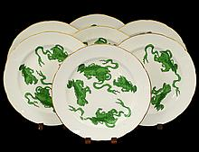 SET OF SIX WEDGWOOD PORCELAIN SERVICE PLATES