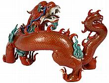 PORCELAIN FIGURE OF A DRAGON