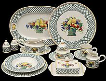 ONE HUNDRED, TEN PIECE VILLEROY & BOCH PORCELAIN DINNER SERVICE