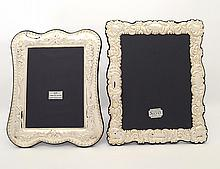 TWO STERLING SILVER PHOTOGRAPH FRAMES