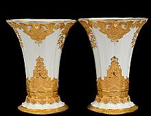 PAIR OF MEISSEN PORCELAIN VASES
