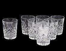 SEVEN WATERFORD CRYSTAL OLD FASHIONED GLASSES