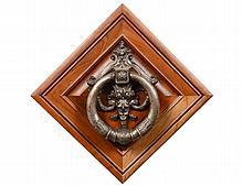 BAROQUE STYLE SILVERED METAL DOOR KNOCKER