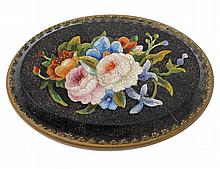 MICRO MOSAIC OVAL PLAQUE