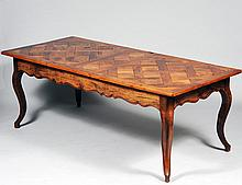 LOUIS XV STYLE PROVINCIAL PARQUETRY DINING TABLE