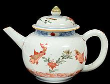 EXPORT PORCELAIN TEA POT AND COVER