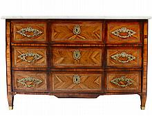 NEO-CLASSICAL INLAID WALNUT COMMODE