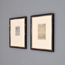Pair of Ernest Trova Drawings, Original Works