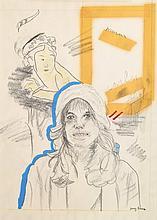Larry Rivers Drawing of Carly Simon, Original Work