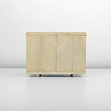 Lacquered Goatskin Cabinet, Manner of Karl Springer