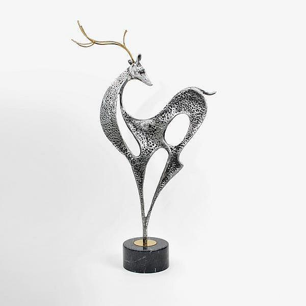 Curtis Jere Deer Sculpture