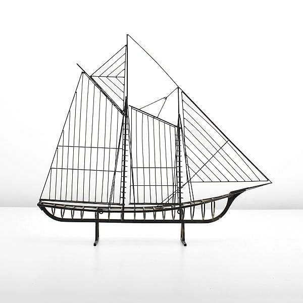 Large Boat Sculpture, Curtis Jere