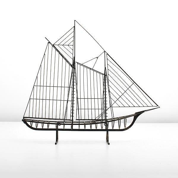 Large Boat Sculpture, Curtis Jere