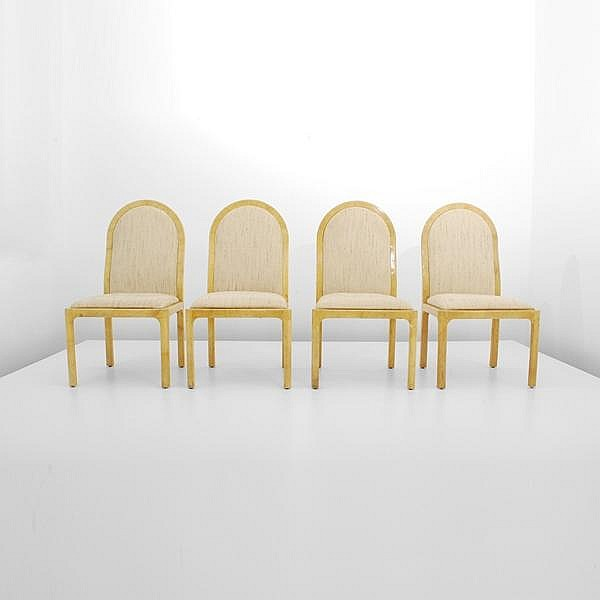 Set of 4 Dining Chairs, Manner of Karl Springer