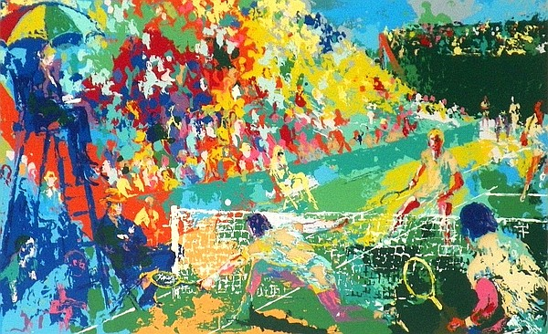 Leroy Neiman Tennis Themed Artist Proof