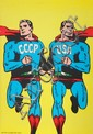 CCCP-USA Superman Poster by Roman Cieslewicz