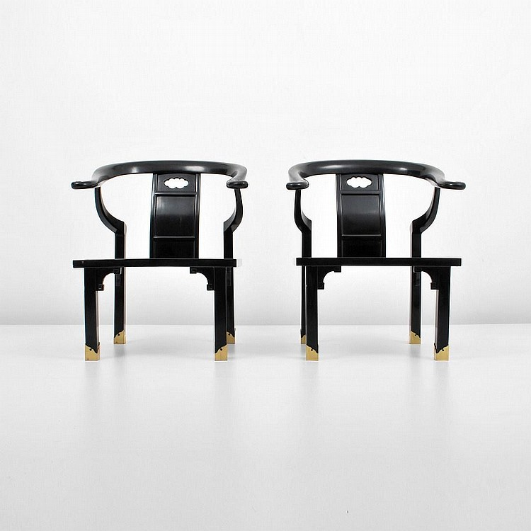 Pair of Asian Chairs, James Mont