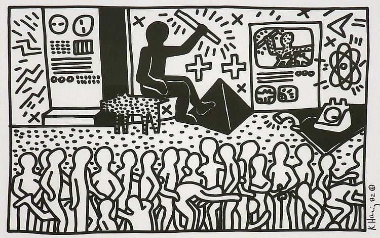 Keith Haring Serigraph