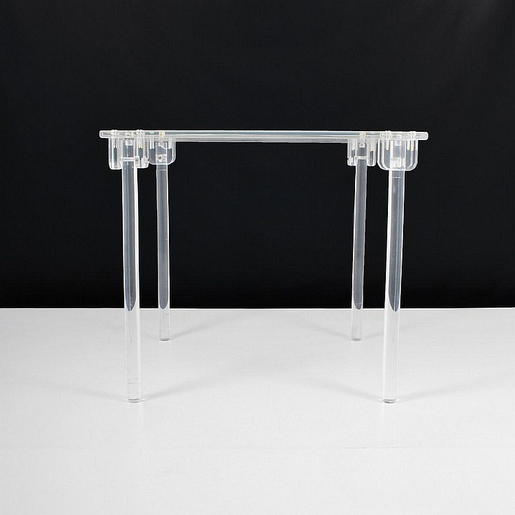 Lucite Folding Game Table, Karl Springer