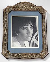 Framed Photograph of Elizabeth Taylor