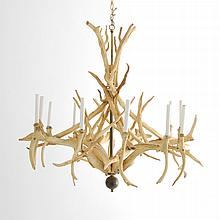 Large Natural Antler Chandelier