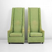 Pair of Overscaled Lounge Chairs, Lobby of Brazilian Court