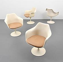 Eero Saarinen TULIP Arm Chairs, Set of 4