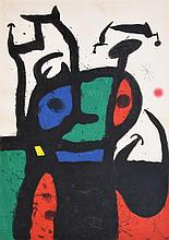 Large Joan Miro Lithograph, Signed Limited Edition