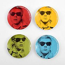 Andy Warhol (After) Plates, Set of 4